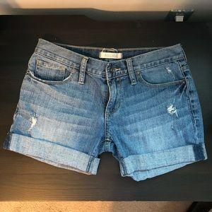 Bullhead Cuffed Blue Denim Shorts